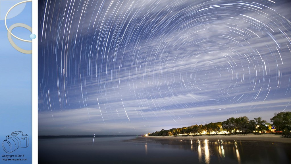Startrails compared to Starmaps